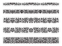 线样式亚洲传统艺术设计传染媒介集合、泰国传统设计& x28; 赖泰国pattern& x29; 免版税库存照片