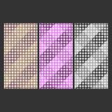 黑线正方形例证 免版税库存照片