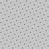 线正方形和小点的无缝的样式 几何墙纸 库存图片