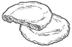 线燕麦曲奇饼 库存照片