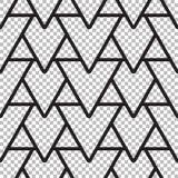 线的抽象无缝的样式 免版税库存照片