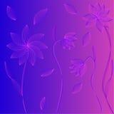 线的花。 库存例证