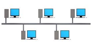 总线网络结构 库存图片