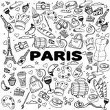 巴黎线艺术设计传染媒介例证 库存照片