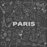巴黎线艺术设计传染媒介例证 库存图片