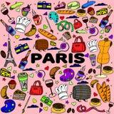 巴黎线艺术设计传染媒介例证 免版税图库摄影
