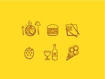 线艺术食物象 库存照片