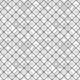 线菱形和圈子的无缝的样式 几何wallpap 库存照片
