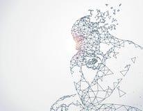 线被连接到思想家 向量例证