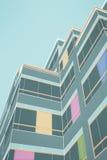 线被画的大厦 图库摄影