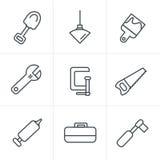 线象工具和建筑 库存照片