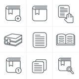 线象样式被设置的书象 免版税库存照片
