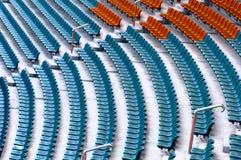 线路位子体育场 免版税库存照片