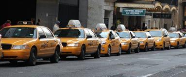 线路出租汽车 库存图片