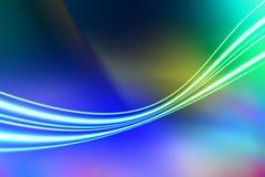 线路和光抽象背景 图库摄影