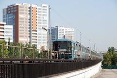 线路地铁莫斯科 库存图片