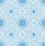 线路无缝的模式 背景蓝色白色 库存例证