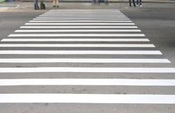 线路步行者安全性 免版税库存图片