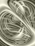 线路波浪银色的纹理 免版税库存图片