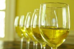 线路白葡萄酒 免版税库存照片