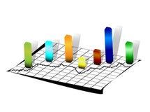 线路空白纸的统计数据 免版税库存图片