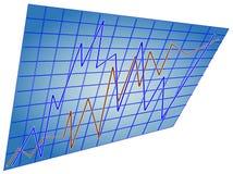线路统计数据二 免版税库存照片