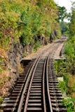 线路西方铁路的泰国 免版税库存图片