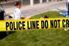 线路警察受害者 库存图片