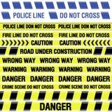 线路警察磁带 免版税库存图片