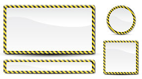 线路警察签字 免版税库存图片