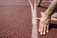 线路赛跑者开始 免版税库存照片