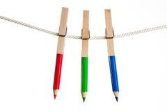 线路铅笔洗涤 免版税图库摄影