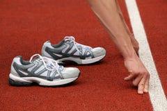 线路鞋子体育运动起始时间 库存图片
