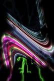 线路 五颜六色的创造性的桃红色绿色银色黑线,嬉戏的背景 免版税库存照片