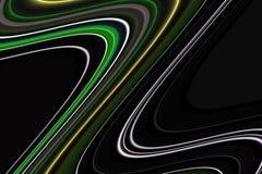 线路 五颜六色的创造性的磷光性黑线,嬉戏的背景 图库摄影
