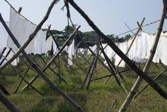 线路洗涤物 免版税图库摄影