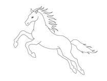 线跳跃的马例证彩图的 蓝色云彩图象彩虹天空向量 向量例证