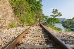 线铁路世界大战2 免版税库存照片