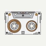 线颜色传染媒介象录音带 行家样式 您的设计的例证纹理 免版税库存图片