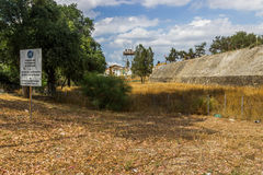 绿线-尼科西亚塞浦路斯 库存照片