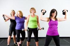 组健康妇女 免版税库存图片
