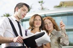 组办公室室外工作者 免版税库存图片