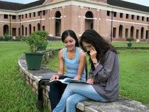 组印第安大学生。 免版税图库摄影