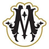 组合图案与信件M的设计模板 免版税库存图片