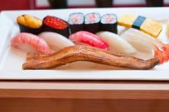 组合寿司unagi 库存图片