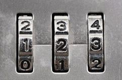 组合拨号锁定 库存图片