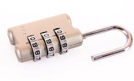 组合数字式查出的锁定 图库摄影