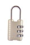 组合数字式查出的锁定 免版税图库摄影