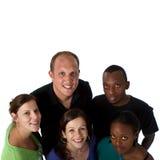组多种族年轻人 免版税库存照片