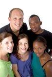 组多种族年轻人 库存图片